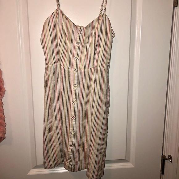 46efcdd35a Forever 21 Dresses & Skirts - Forever 21 Rainbow-Striped Cami Dress